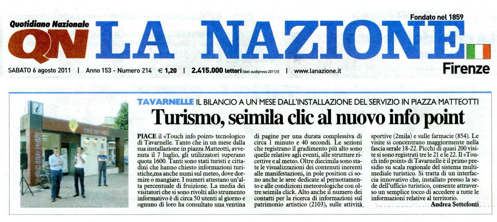 Rassegna stampa touch24 for Nazione di firenze